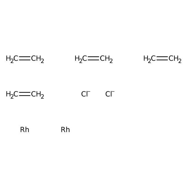 µ-Dichlorotraéthylène dirhodium(I), AcrosOrganics 1g; flacon en verre µ-Dichlorotraéthylène dirhodium(I), AcrosOrganics
