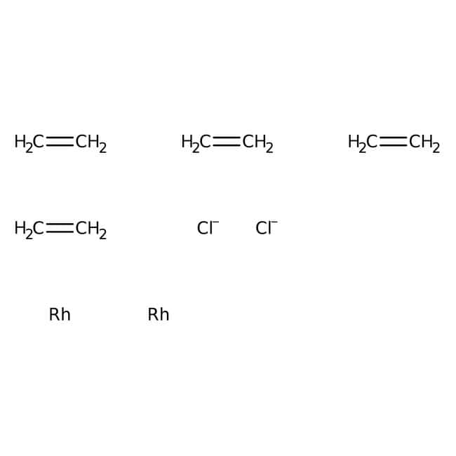 µ-Dichlorotetraethylene dirhodium(I), ACROS Organics™ 1g; Glass bottle µ-Dichlorotetraethylene dirhodium(I), ACROS Organics™