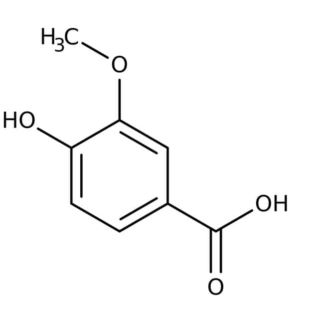4-Hydroxy-3-methoxybenzoic acid, 97+%, ACROS Organics™