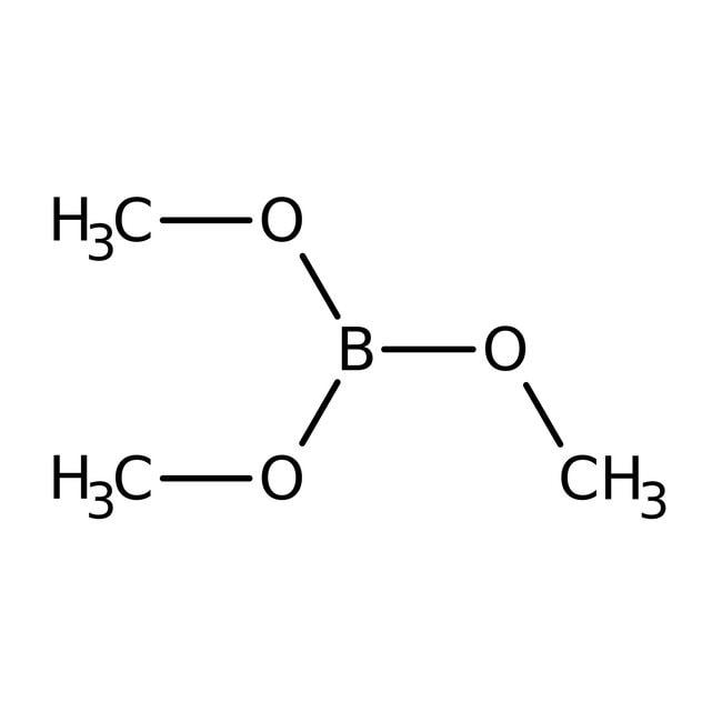 Trimethyl borate, 99%, ACROS Organics™ 500g Trimethyl borate, 99%, ACROS Organics™