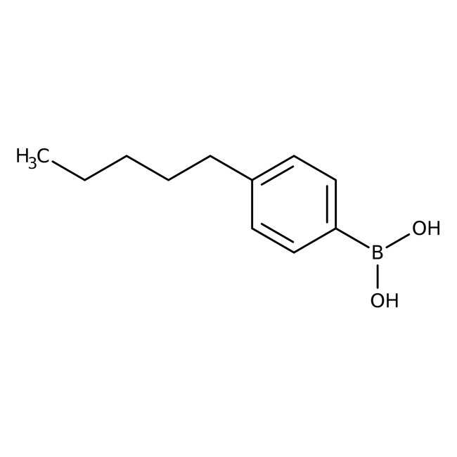 Alfa Aesar™4-n-Pentylbenzenboronsäure, 97% 1g Alfa Aesar™4-n-Pentylbenzenboronsäure, 97%