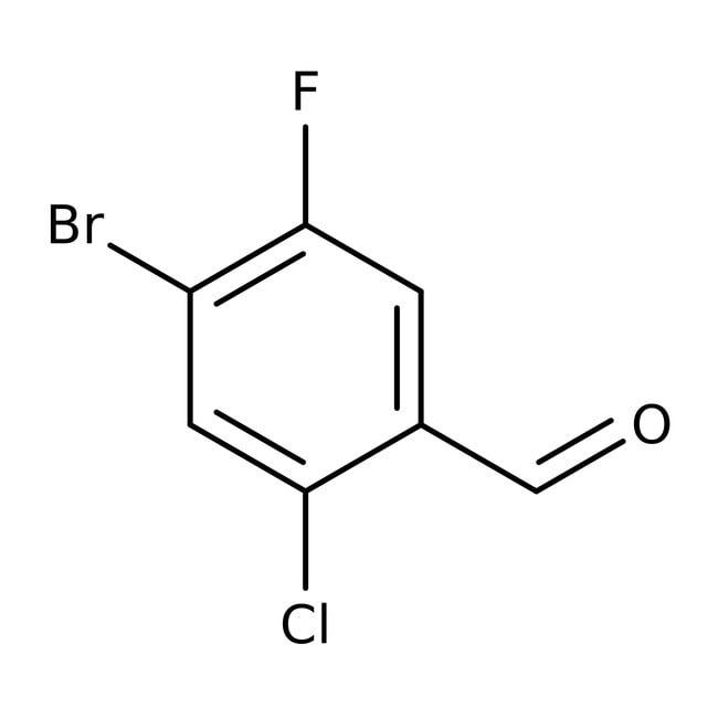 Alfa Aesar™2-Chloro-4-bromo-5-fluorobenzaldehyde, 98% 5g Alfa Aesar™2-Chloro-4-bromo-5-fluorobenzaldehyde, 98%
