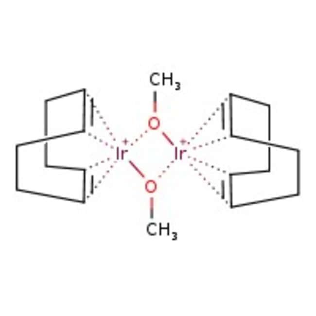Methoxy(cyclooctadiene)iridium(I) dimer, Ir nominally 58%, Alfa Aesar™ 1g Methoxy(cyclooctadiene)iridium(I) dimer, Ir nominally 58%, Alfa Aesar™