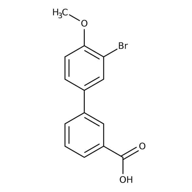 Alfa Aesar™3'-Bromo-4'-methoxybiphenyl-3-carboxylic acid, 95% 1g Alfa Aesar™3'-Bromo-4'-methoxybiphenyl-3-carboxylic acid, 95%