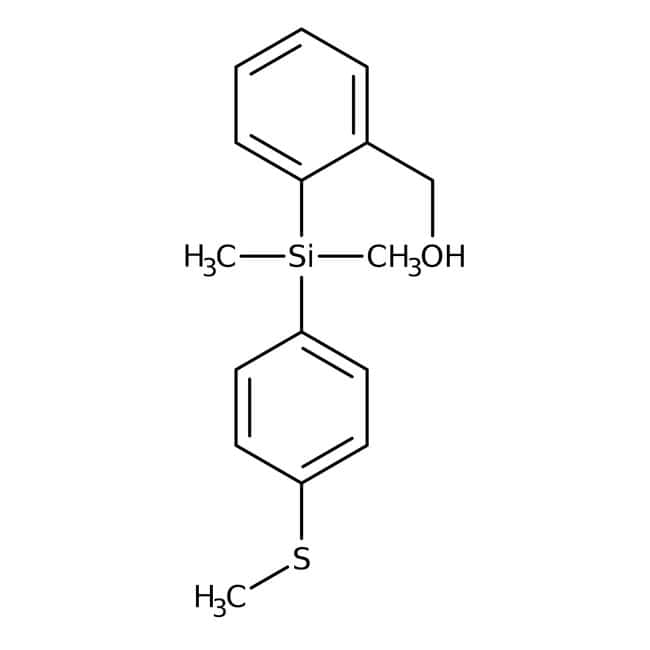 2-(Dimethyl[4-(methylthio)phenyl]silyl)benzyl alcohol, 95%, Alfa
