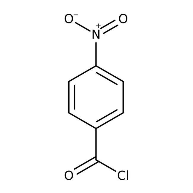 4-Nitrobenzoyl chloride, 98%, Acros Organics 250g; Glass bottle 4-Nitrobenzoyl chloride, 98%, Acros Organics