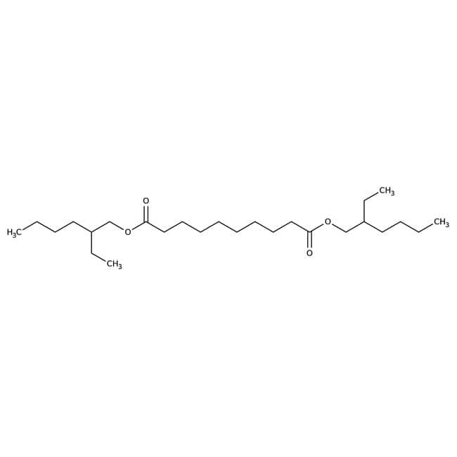 Bis(2-ethylhexyl)-sebacat, 97%, ACROS Organics™ 2.5 l-Glasflasche Bis(2-ethylhexyl)-sebacat, 97%, ACROS Organics™