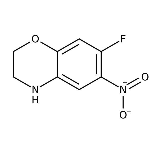 Alfa Aesar™7-Fluoro-6-nitro-3,4-dihydro-2H-1,4-benzoxazine, 97% 1g Alfa Aesar™7-Fluoro-6-nitro-3,4-dihydro-2H-1,4-benzoxazine, 97%