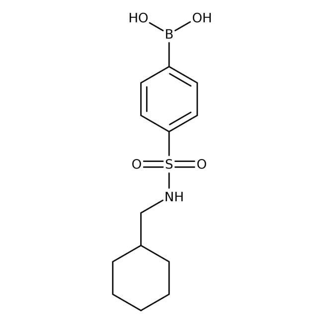 Alfa Aesar™4-(Cyclohexylmethylsulfamoyl)benzeneboronic acid, 97% 1g Alfa Aesar™4-(Cyclohexylmethylsulfamoyl)benzeneboronic acid, 97%