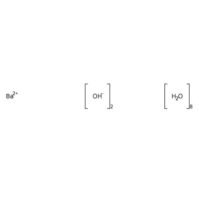 Alfa Aesar™Hidróxido de bario octahidrato, 97% 2500g Alfa Aesar™Hidróxido de bario octahidrato, 97%