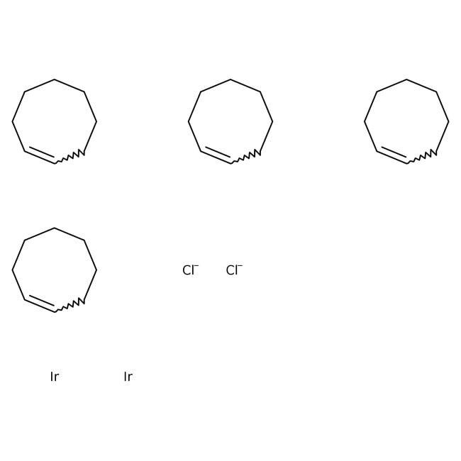 Alfa Aesar™Chlorobis(cyclooctene)iridium(I) dimer, Ir nominally 42.9% 5g Alfa Aesar™Chlorobis(cyclooctene)iridium(I) dimer, Ir nominally 42.9%