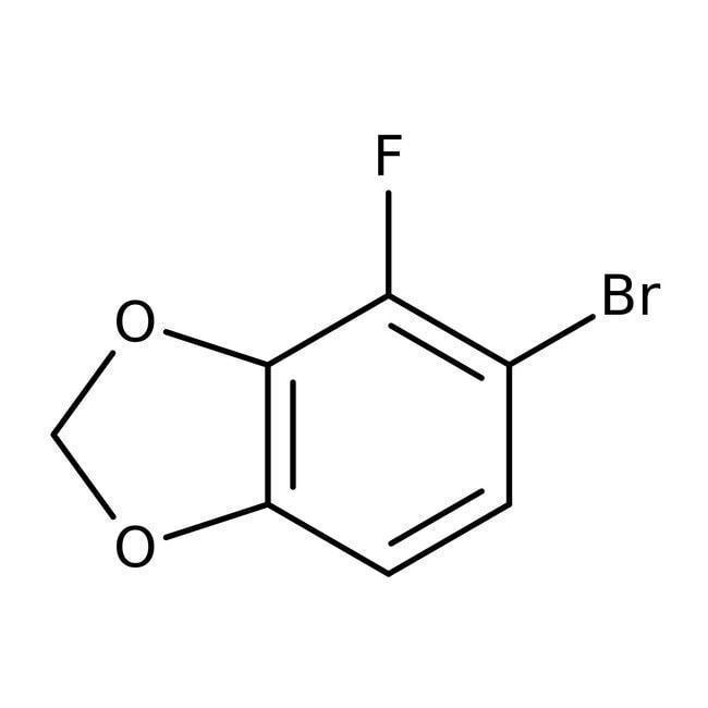 Alfa Aesar™5-Bromo-4-fluoro-1,3-benzodioxole, 96% 1g Alfa Aesar™5-Bromo-4-fluoro-1,3-benzodioxole, 96%