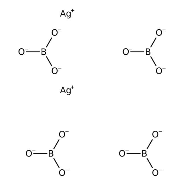 Alfa Aesar™Silver(I) tetraborate hydrate, 99% 10g Alfa Aesar™Silver(I) tetraborate hydrate, 99%