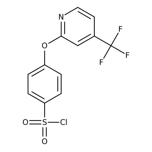 Alfa Aesar™4-(4-Trifluoromethyl-2-pyridyloxy)benzenesulfonyl chloride, 97%: Chemicals Products