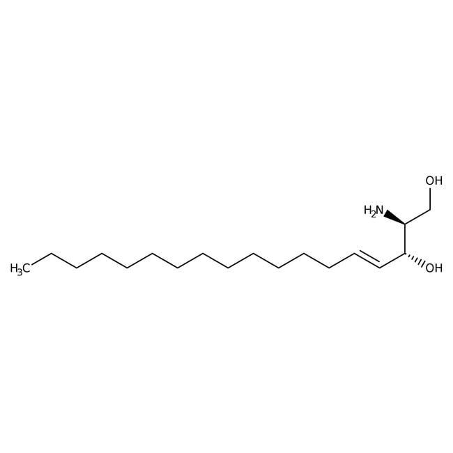 D-erythro-Sphingosine, 99+%, synthetical, ACROS Organics™ 250mg; Glass bottle D-erythro-Sphingosine, 99+%, synthetical, ACROS Organics™