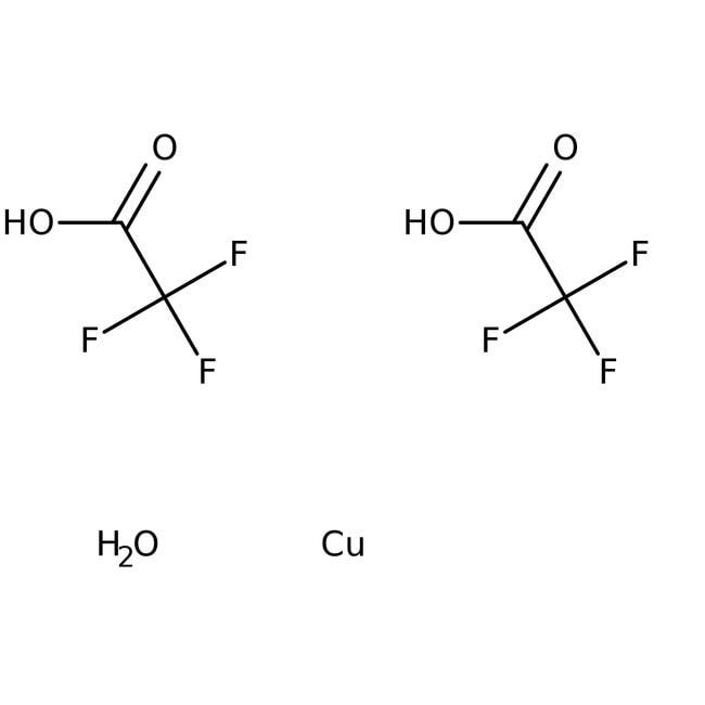 Copper(II) trifluoroacetate hydrate, Alfa Aesar™