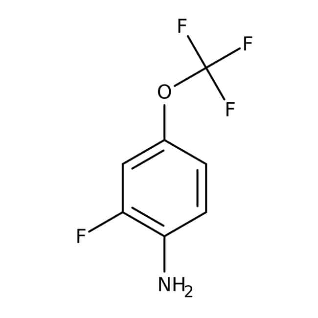 Alfa Aesar™2-Fluor-4-(Trifluormethoxy)anilin, 97% 1g Alfa Aesar™2-Fluor-4-(Trifluormethoxy)anilin, 97%