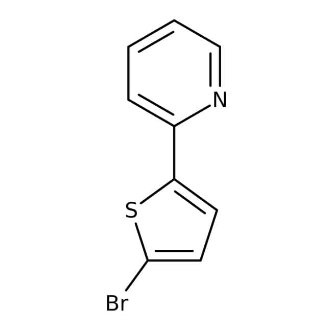 2-(5-Bromo-2-thienyl)pyridine, 97%, Maybridge™: Thiophenes Organoheterocyclic compounds