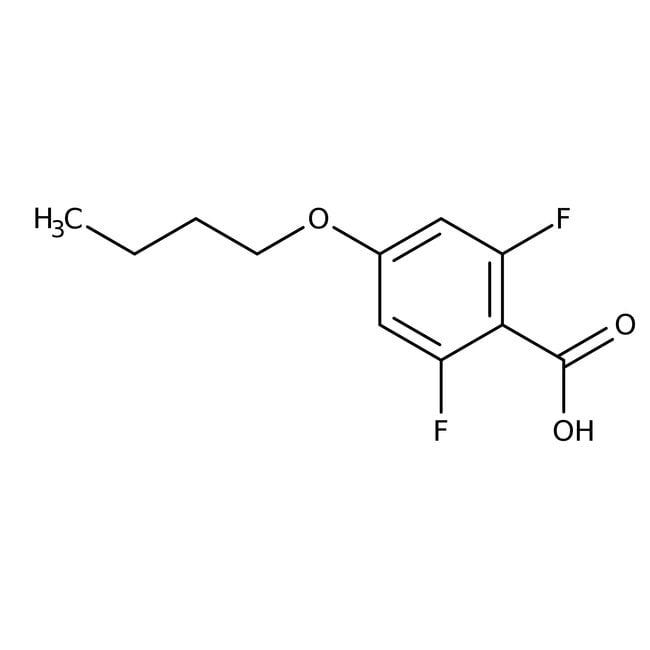 Alfa Aesar™4-n-Butoxy-2,6-difluorobenzoic acid, 97%: Halobenzoic acids and derivatives Benzoic acids and derivatives