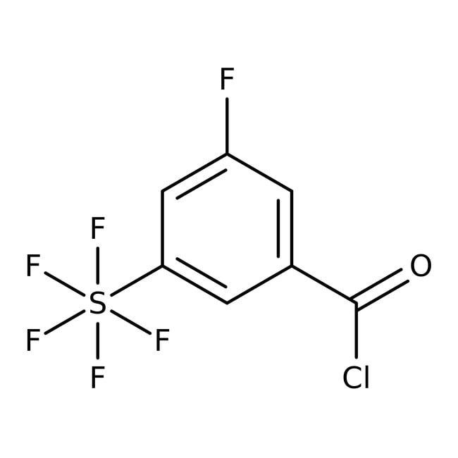 Alfa Aesar™3-Fluoro-5-(pentafluorothio)benzoyl chloride, 97% 250mg Alfa Aesar™3-Fluoro-5-(pentafluorothio)benzoyl chloride, 97%