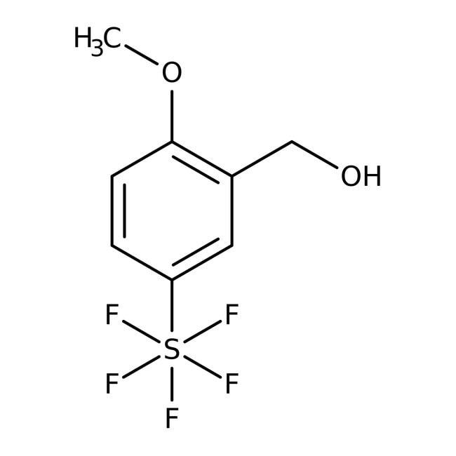 Alfa Aesar™2-Methoxy-5-(pentafluorothio)benzyl alcohol, 97% 250mg Alfa Aesar™2-Methoxy-5-(pentafluorothio)benzyl alcohol, 97%