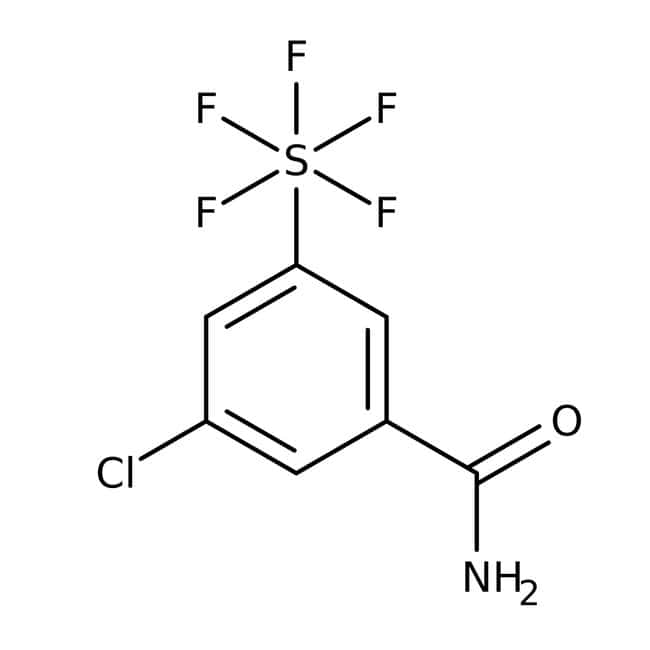Alfa Aesar™3-Chlor-5-(Pentafluorothio)Benzamid, 97% 1g Alfa Aesar™3-Chlor-5-(Pentafluorothio)Benzamid, 97%