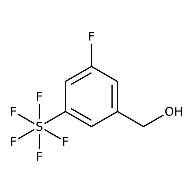 Alfa Aesar™3-Fluoro-5-(pentafluorothio)benzyl alcohol, 97%: Benzene and substituted derivatives Benzenoids