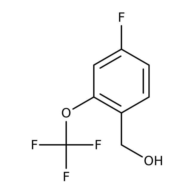 Alfa Aesar™4-Fluoro-2-(trifluoromethoxy)benzyl alcohol, 97% 250mg Alfa Aesar™4-Fluoro-2-(trifluoromethoxy)benzyl alcohol, 97%
