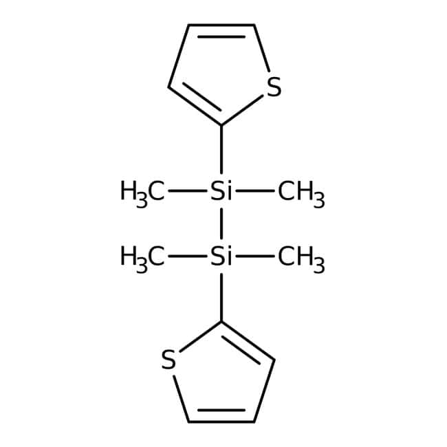 Alfa Aesar™Di(2-tienil)-1,1,2,2-tetrametildisilano, 97% 1g Alfa Aesar™Di(2-tienil)-1,1,2,2-tetrametildisilano, 97%