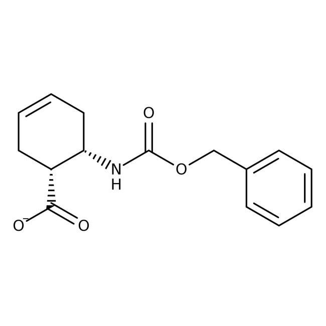 Alfa Aesar™CIS-6-(Benzyloxycarbonylamino)-3-Cyclohexen-1-Carbonsäure, 97% 1g Alfa Aesar™CIS-6-(Benzyloxycarbonylamino)-3-Cyclohexen-1-Carbonsäure, 97%