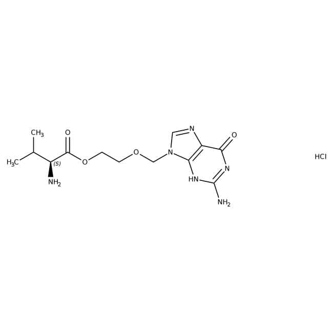 Valaciclovir hydrochloride hydrate, ACROS Organics™ 5g Valaciclovir hydrochloride hydrate, ACROS Organics™