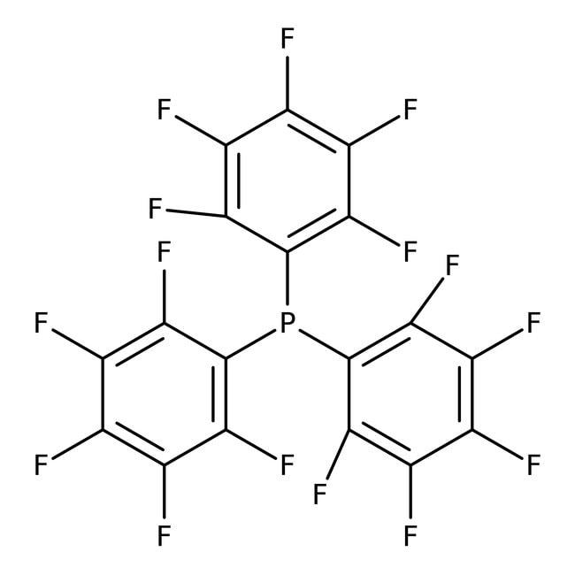 Tris(pentafluorophenyl)phosphine, 97%, ACROS Organics™ 5g; Glass bottle Tris(pentafluorophenyl)phosphine, 97%, ACROS Organics™