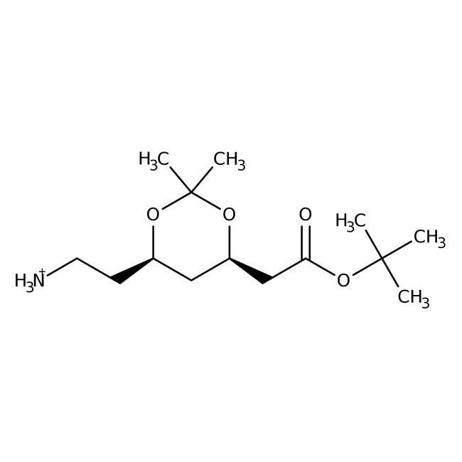 (4R,6R)-tert-Butyl-6-(2-aminoethyl)-2,2-dimethyl-1,3-dioxane-4-acetate, 95%, ACROS Organics