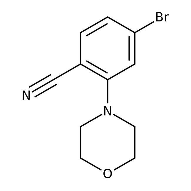 Alfa Aesar™4-Bromo-2-(4-morpholinyl)benzonitrile, 98% 1g Alfa Aesar™4-Bromo-2-(4-morpholinyl)benzonitrile, 98%