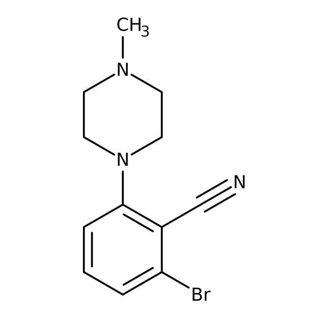 Alfa Aesar™2-Bromo-6-(4-methyl-1-piperazinyl)benzonitrile, 95%