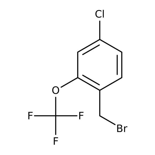 Alfa Aesar™4-Chloro-2-(trifluoromethoxy)benzyl bromide, 97% 250mg Alfa Aesar™4-Chloro-2-(trifluoromethoxy)benzyl bromide, 97%