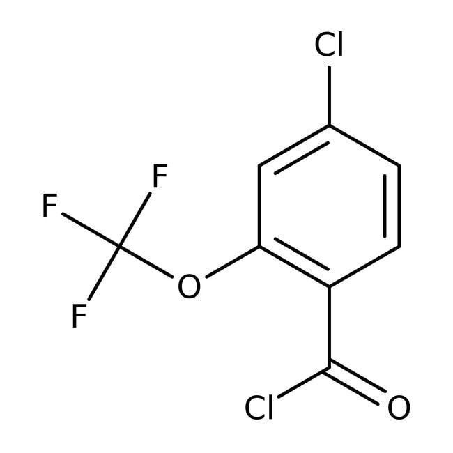 Alfa Aesar™4-Chloro-2-(trifluoromethoxy)benzoyl chloride, 97% 250mg Alfa Aesar™4-Chloro-2-(trifluoromethoxy)benzoyl chloride, 97%