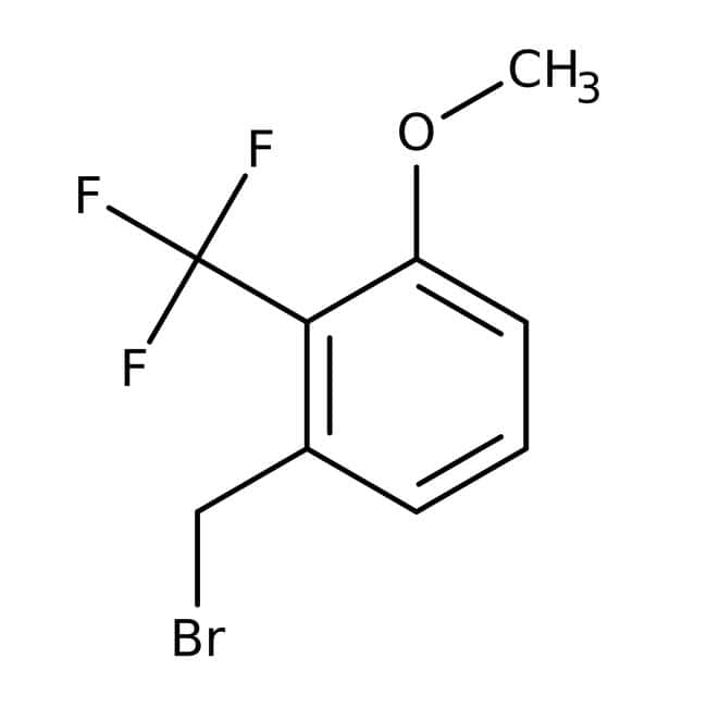 Alfa Aesar™3-Methoxy-2-(trifluoromethyl)benzyl bromide, 97% 250mg Alfa Aesar™3-Methoxy-2-(trifluoromethyl)benzyl bromide, 97%