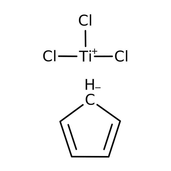 Cyclopentadienyltitanium trichloride, 99%, ACROS Organics™ 10g; Glass bottle Cyclopentadienyltitanium trichloride, 99%, ACROS Organics™