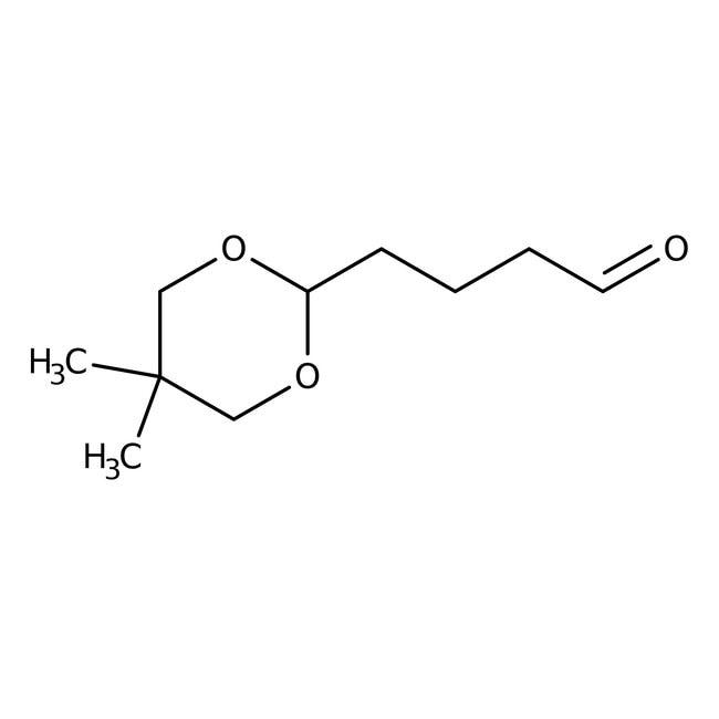 Alfa Aesar™5,5-Dimethyl-1,3-dioxane-2-butanal, 96% 10g Alfa Aesar™5,5-Dimethyl-1,3-dioxane-2-butanal, 96%
