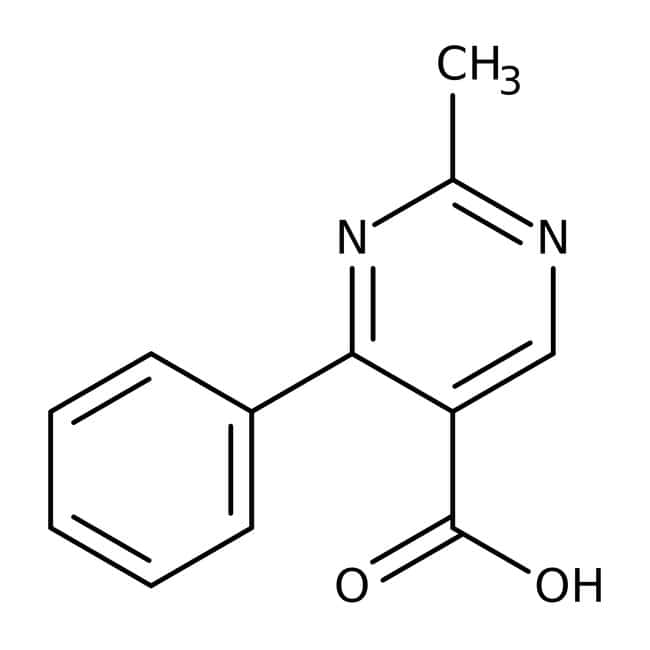 2-Methyl-4-phenyl-5-pyrimidinecarboxylic acid, 97%, Maybridge™