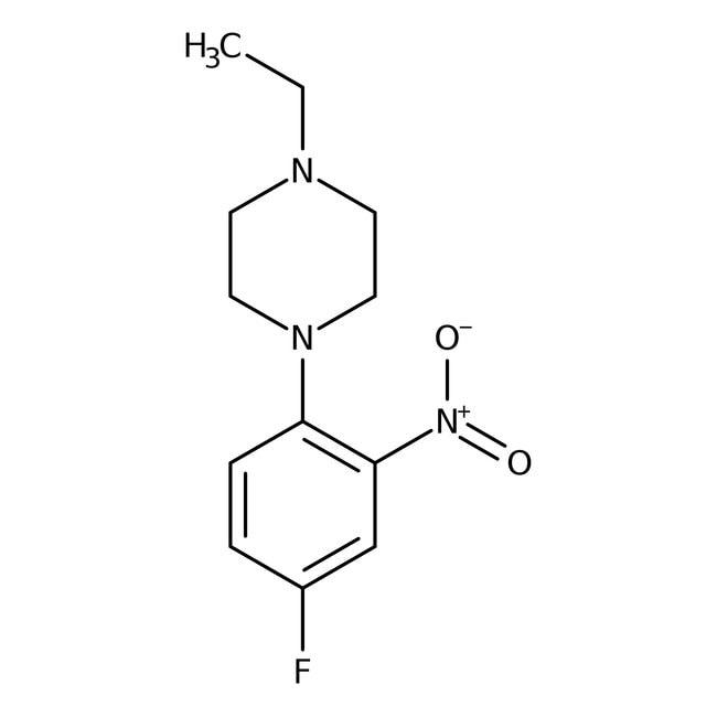 Alfa Aesar™1-Ethyl-4-(4-fluoro-2-nitrophenyl)piperazine, 97% 1g Alfa Aesar™1-Ethyl-4-(4-fluoro-2-nitrophenyl)piperazine, 97%