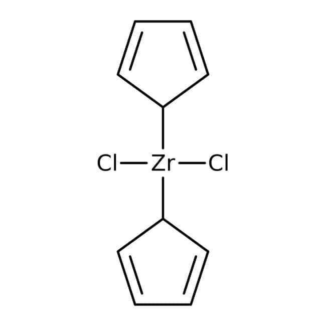 Bis(cyclopentadienyl)zirconium dichloride, 98+%, ACROS Organics™ 100g; Glass bottle Bis(cyclopentadienyl)zirconium dichloride, 98+%, ACROS Organics™