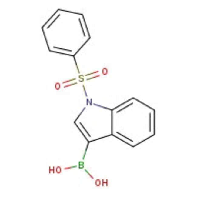 1-(Phenylsulfonyl)-1H-indol-3-ylboronic acid, 97%, May contain varying amounts of anhydri, Maybridge™ Amber Glass Bottle; 1g 1-(Phenylsulfonyl)-1H-indol-3-ylboronic acid, 97%, May contain varying amounts of anhydri, Maybridge™