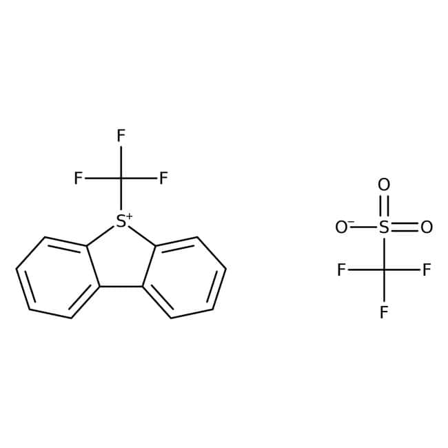 5-(Trifluoromethyl)dibenzothiophenium trifluoromethanesulfonate, 96%, ACROS Organics™