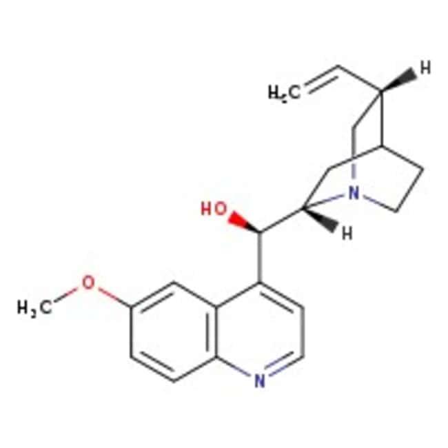Alfa Aesar™Quinine, anhydrous, 99% (total base), may cont. up to 5% dihydroquinine 250g Alfa Aesar™Quinine, anhydrous, 99% (total base), may cont. up to 5% dihydroquinine