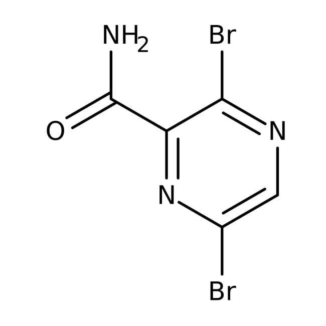 Alfa Aesar™3,6-Dibromopyrazine-2-carboxamide, 97%: Pyrazine carboxylic acids and derivatives Pyrazines