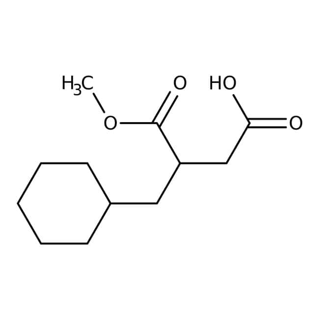 (R)-2-(Cyclohexylmethyl)succinic acid-1-methyl ester, 95%, 98% e.e., ACROS Organics