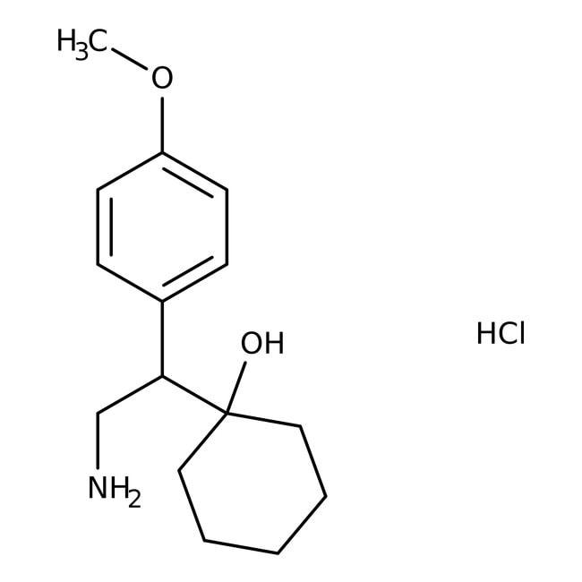 1-[2-Amino-1-(4-methoxyphenyl)ethyl]cyclohexanol hydrochloride, 98%, Alfa Aesar™ 5g 1-[2-Amino-1-(4-methoxyphenyl)ethyl]cyclohexanol hydrochloride, 98%, Alfa Aesar™