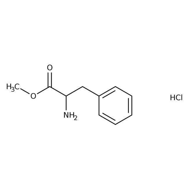 D-Phenylalanine methyl ester hydrochloride, 98%, ACROS Organics™ 25g; Glass bottle D-Phenylalanine methyl ester hydrochloride, 98%, ACROS Organics™
